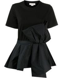 Alexander McQueen - Oversized-bow Panelled T-shirt - Lyst
