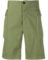 Aries Herringbone-weave Cargo Pockets - Green