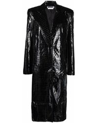 ROTATE BIRGER CHRISTENSEN Eliane Boxy-cut Mid-length Coat - Black