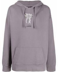Hydrogen Graphic-print Pullover Hoodie - Gray