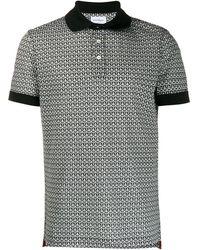 Ferragamo Gancini Piqué Polo Shirt - White