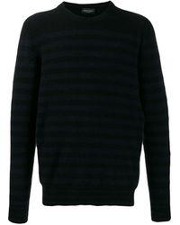 Roberto Collina Striped Jumper - Black
