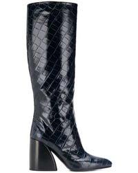 Chloé Block Heel Boots - Blue
