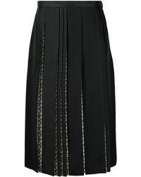 Ferragamo Gancini Print Silk Skirt - Black