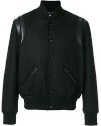 Saint Laurent Light Wool Teddy Jacket - Black