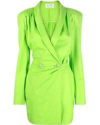 The Attico Double-breasted Blazer Dress - Green