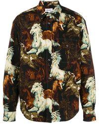 KENZO Horse Print Overshirt - Brown