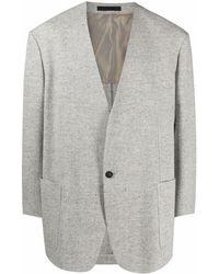 Fear Of God Single Breasted V-neck Blazer - Grey