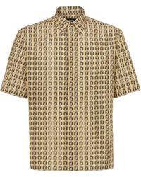 Fendi Ff Print Short-sleeved Shirt - Natural