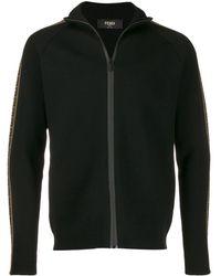 Fendi Ff Knitted Cardigan - Black