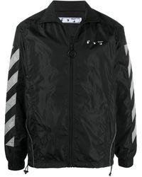 Off-White c/o Virgil Abloh Diag Zipped Sports Jacket - Black