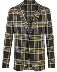 Tagliatore Check Single-breasted Blazer - Yellow