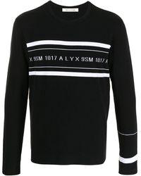 1017 ALYX 9SM Two-tone Logo-print Jumper - Black