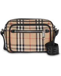 Burberry Vintage Check Leather Crossbody Bag - Multicolor