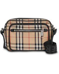 Burberry Vintage Check Leather Crossbody Bag - Multicolour
