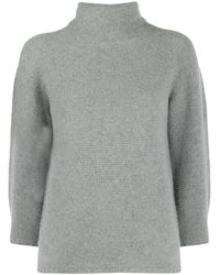 Max Mara Roll Neck Knitted Sweater - Grey
