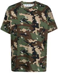 Off-White c/o Virgil Abloh - Camouflage-print Crew-neck T-shirt - Lyst