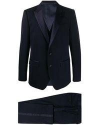 Dolce & Gabbana Three-piece Dinner Suit - Blue