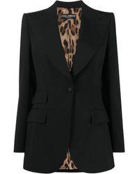 Dolce & Gabbana Single-breasted Tailored Blazer - Black