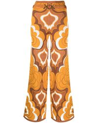 Alice McCALL - Retro-print Flared Trousers - Lyst