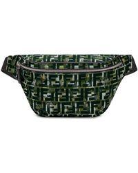 Fendi Camouflage Ff Print Belt Bag - Green