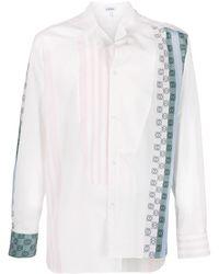 Loewe Striped Anagram Print Shirt - White