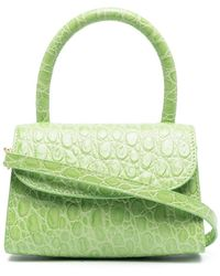 BY FAR Crocodile-embossed Mini Bag - Green