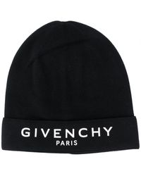 Givenchy Paris Logo-embroidered Beanie Hat - Black