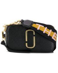 Marc Jacobs Womens New Black Multi Snapshot Leather Cross-body Bag