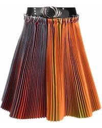 Chopova Lowena Belted Pleated Skirt - Orange