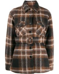 ANDAMANE Evita Belted Shirt Jacket - Black