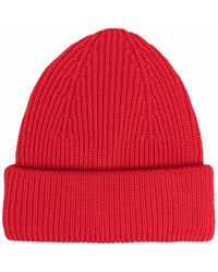 Roberto Collina Ribbed-knit Wool Beanie - Red