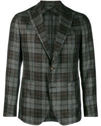 Tagliatore Classic Plaid Blazer - Grey