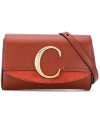 Chloé Leather Belt Bag - Brown