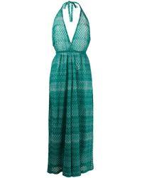 Missoni Zig-zag Pattern Dress - Green