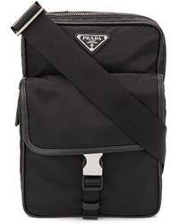 Prada Multi-carry Messenger Bag - Black