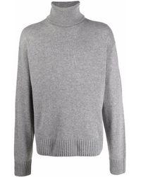 Off-White c/o Virgil Abloh Roll Neck Knitted Jumper - Grey