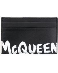 Alexander McQueen Graffiti Signature Cardholder - Black