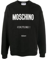 Moschino Logo-print Crew-neck Sweatshirt - Black