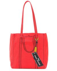 Marc Jacobs The Trompe L'oeil Tag Tote Bag Red Multi