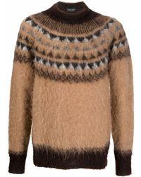 Roberto Collina Fluffy Intarsia-knit Jumper - Brown
