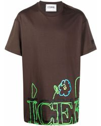 Iceberg Logo Print T-shirt - Brown