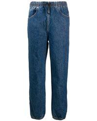 Alexander Wang Logo Stripe baggy Jeans - Blue
