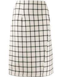 Gianluca Capannolo High Waist Check Skirt - White