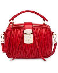 Miu Miu Matelassé Beauty Case - Red