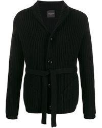 Roberto Collina Belted Knit Cardigan - Black