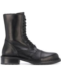 Ann Demeulemeester Lace-up Boots - Black