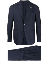 Lardini Two-piece Wool Suit - Blue