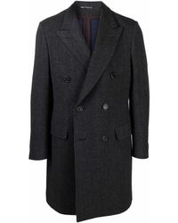 Canali Double-breasted Wool Coat - Grey