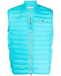 Stone Island Quilted Down Lightweight Gilet - Blue